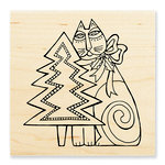 Stampendous - Christmas - Wood Mounted Stamps - Feline Christmas