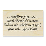 Stampendous - Christmas - Wood Mounted Stamps - May the Miracle