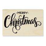 Stampendous - Christmas - Wood Mounted Stamps - Merry Greeting