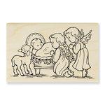 Stampendous - Christmas - Wood Mounted Stamps - Manger Cherubim