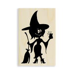 Stampendous - Halloween - Wood Mounted Stamps - Witch Selfie