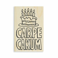 Stampendous - Wood Mounted Stamps - Carpe Cakum