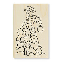 Stampendous - Christmas - Wood Mounted Stamps - Gnome Tree