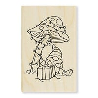 Stampendous - Christmas - Wood Mounted Stamps - Mushroom Gnome