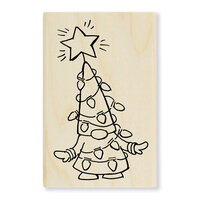 Stampendous - Christmas - Wood Mounted Stamps - Gnome Lights
