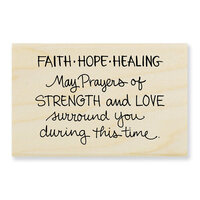 Stampendous - Wood Mounted Stamps - Faith Hope Healing