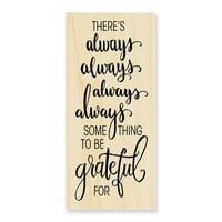 Stampendous - Christmas - Wood Mounted Stamps - Always Grateful