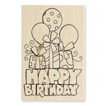 Stampendous - Wood Mounted Stamps - Chunky Birthday