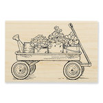 Stampendous - Wood Mounted Stamps - Garden Wagon
