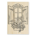 Stampendous - Wood Mounted Stamps - Window Kitty