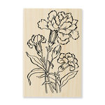 Stampendous - Wood Mounted Stamps - Carnation Blooms