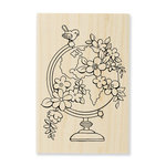 Stampendous - Wood Mounted Stamps - Blooming Globe