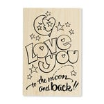 Stampendous - Wood Mounted Stamps - Great Big Love