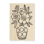 Stampendous - Wood Mounted Stamps - Blossom Vase