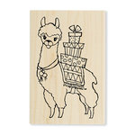 Stampendous - Wood Mounted Stamps - Llama Delivery