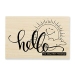 Stampendous - Wood Mounted Stamps - Sunny Hello