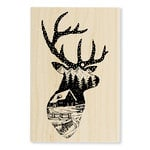 Stampendous - Christmas - Wood Mounted Stamps - Buck Scene