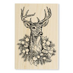 Stampendous - Christmas - Wood Mounted Stamps - Adorned Deer