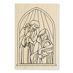 Stampendous - Christmas - Wood Mounted Stamps - Holy Nativity
