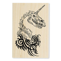 Stampendous - Wood Mounted Stamps - Unicorn Skull