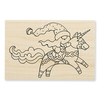 Stampendous - Wood Mounted Stamps - Unicorn Gnome