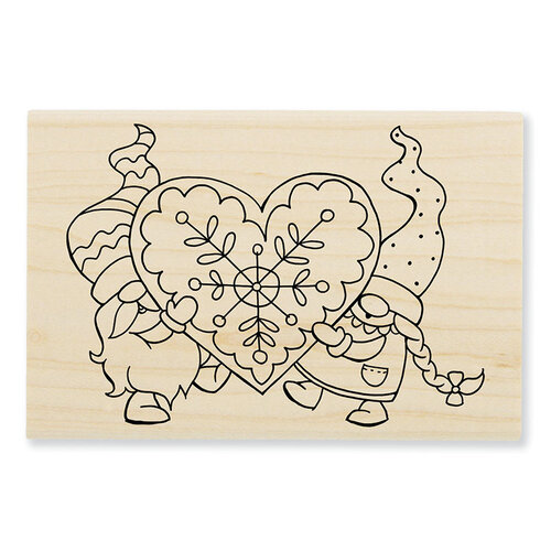 Stampendous - Wood Mounted Stamps - Gnome Love