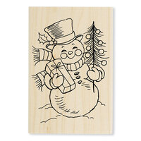 Stampendous - Christmas - Wood Mounted Stamps - Snowman Smile