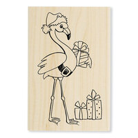 Stampendous - Christmas - Wood Mounted Stamps - Flamingo Santa