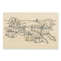 Stampendous - Wood Mounted Stamps - Seaside Christmas