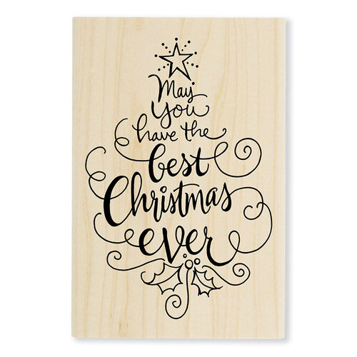 Stampendous - Wood Mounted Stamps - Best Christmas