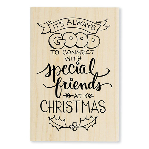Stampendous - Christmas - Wood Mounted Stamps - Always Friends