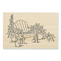 Stampendous - Wood Mounted Stamps - Bunny Chair