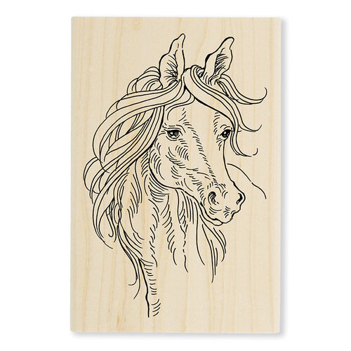 Stampendous - Wood Mounted Stamps - Horse Portrait
