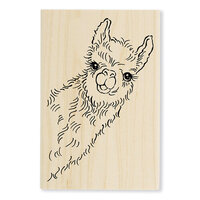 Stampendous - Wood Mounted Stamps - Llama Look