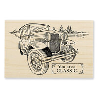 Stampendous - Wood Mounted Stamps - Classic Car