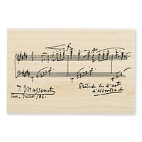Stampendous - Wood Mounted Stamps - Music Notation