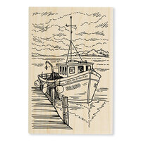 Stampendous - Wood Mounted Stamps - Boat Docking