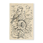 Stampendous - Wood Mounted Stamps - Sunflower Perch
