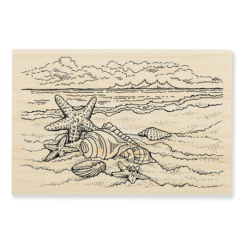 Stampendous - Wood Mounted Stamps - Seaside Shells