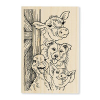 Stampendous - Wood Mounted Stamps - Funny Farm