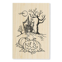 Stampendous - Halloween - Wood Mounted Stamps - Haunted Hallow