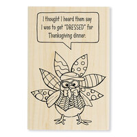 Stampendous - Wood Mounted Stamps - Dressed Turkey