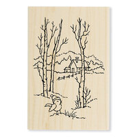 Stampendous - Christmas - Wood Mounted Stamps - Birch Birdie