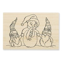 Stampendous - Christmas - Wood Mounted Stamps - Snome Buddies