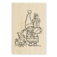 Stampendous - Christmas - Wood Mounted Stamps - Gnome Shoppers