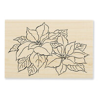 Stampendous - Christmas - Wood Mounted Stamps - Precious Poinsettias