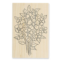 Stampendous - Wood Mounted Stamps - Bouquet Blooms
