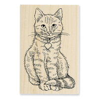 Stampendous - Wood Mounted Stamps - Sitting Kitty