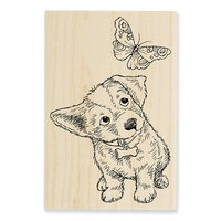 Stampendous - Wood Mounted Stamps - Curious Puppy