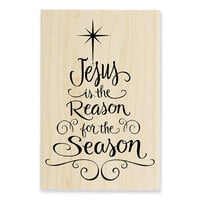 Stampendous - Christmas - Wood Mounted Stamps - Jesus Is